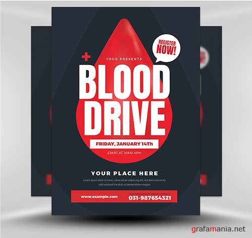 PSD - Blood Drive Flyer Template v1