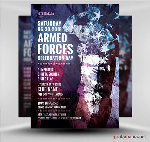 PSD - Armed Forces Appreciation Flyer Template v1
