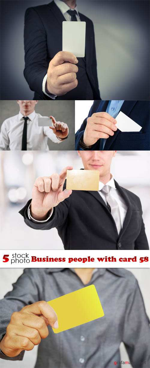 Растровый клипарт - Business people with card 58