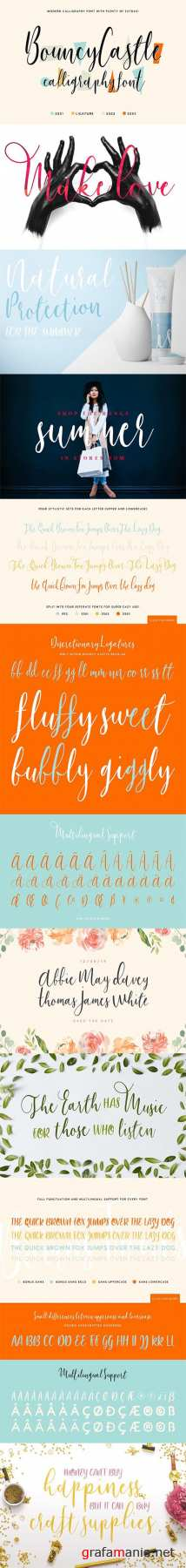 Bouncy Castle Calligraphy Font 1600085