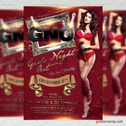 Club A5 Flyer Template - Girls Night Out