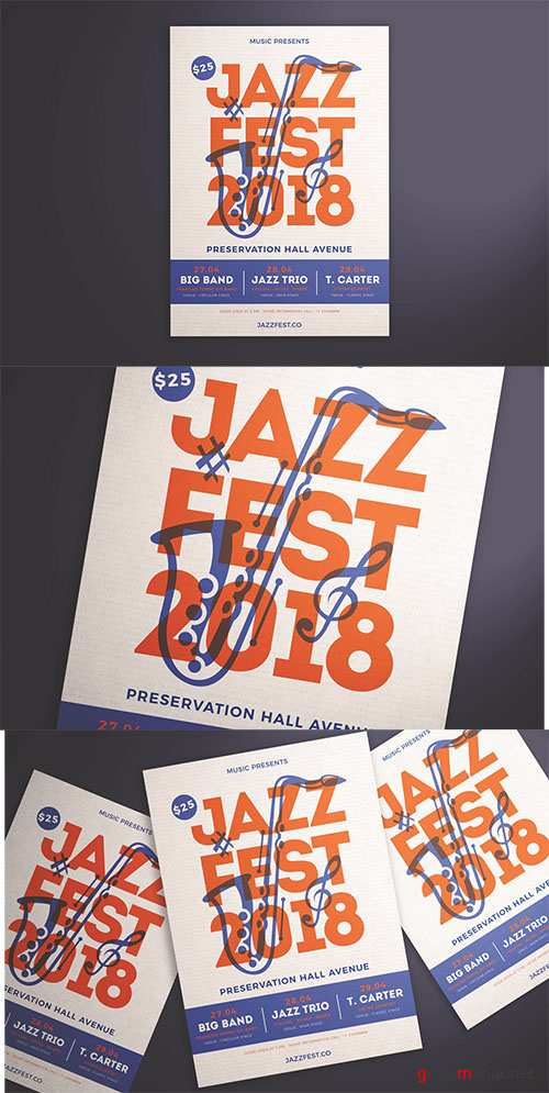 Jazz Festival Flyer PSD