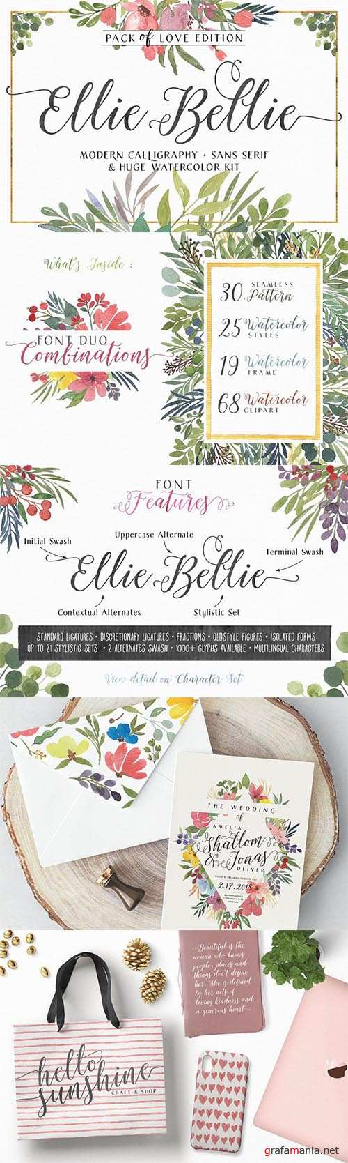 Ellie Bellie Font Duo