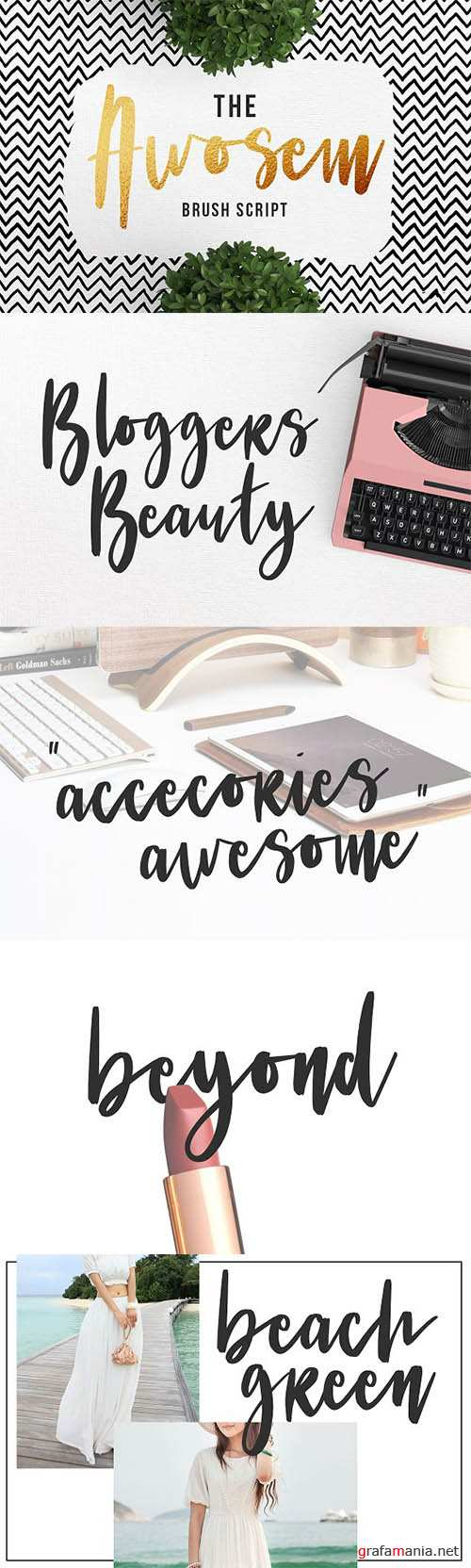 Awosem Typeface - Typography Quote 2190434