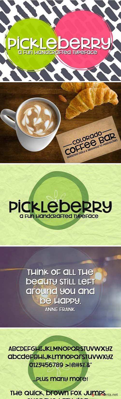 NEW!! Pickleberry Font 2032481