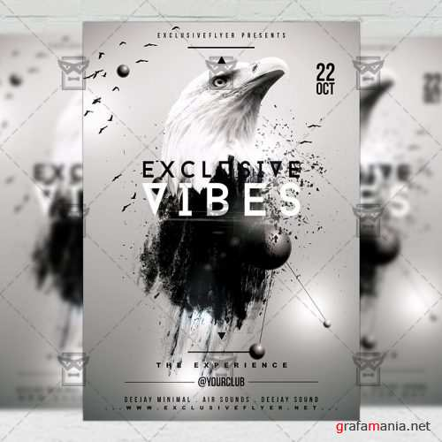 Club A5 Flyer Template - Exclusive Vibes