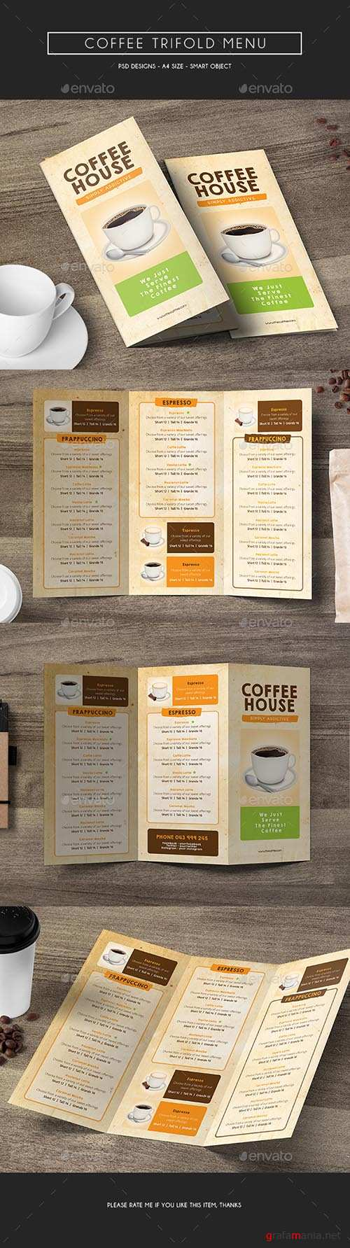GR - Coffee Trifold Menu 14875947