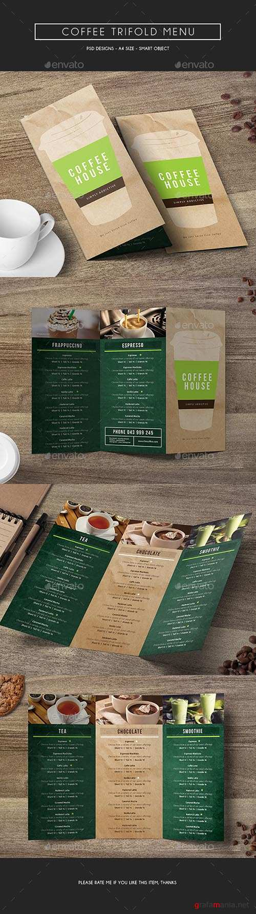 GR - Coffee Trifold Menu 14846094