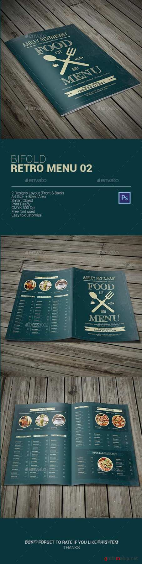 GR - Bifold Retro Menu 02 9911545