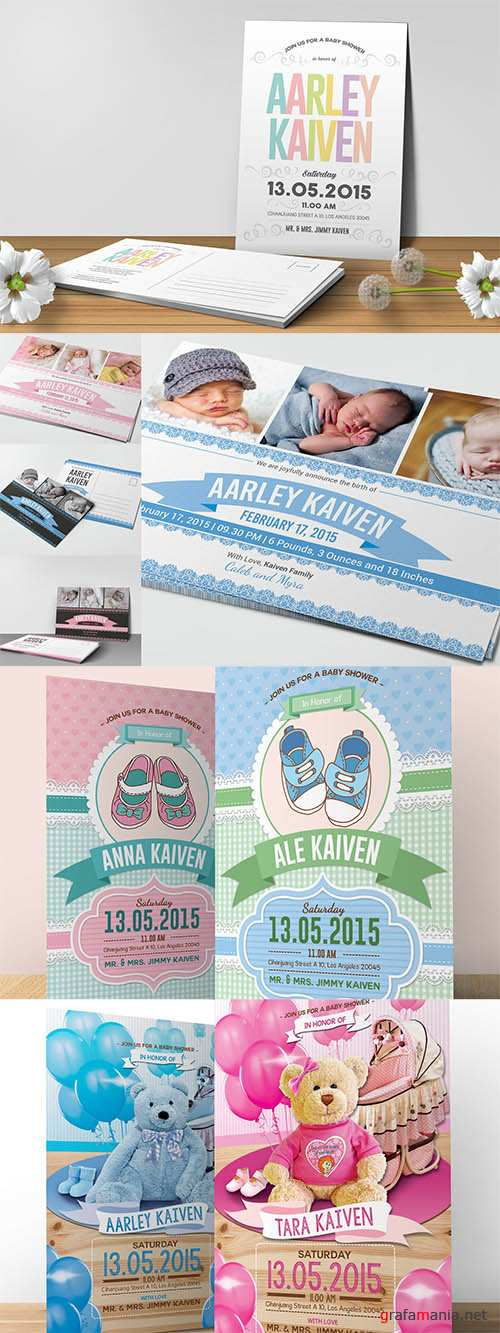 4 Baby Shower Invitations