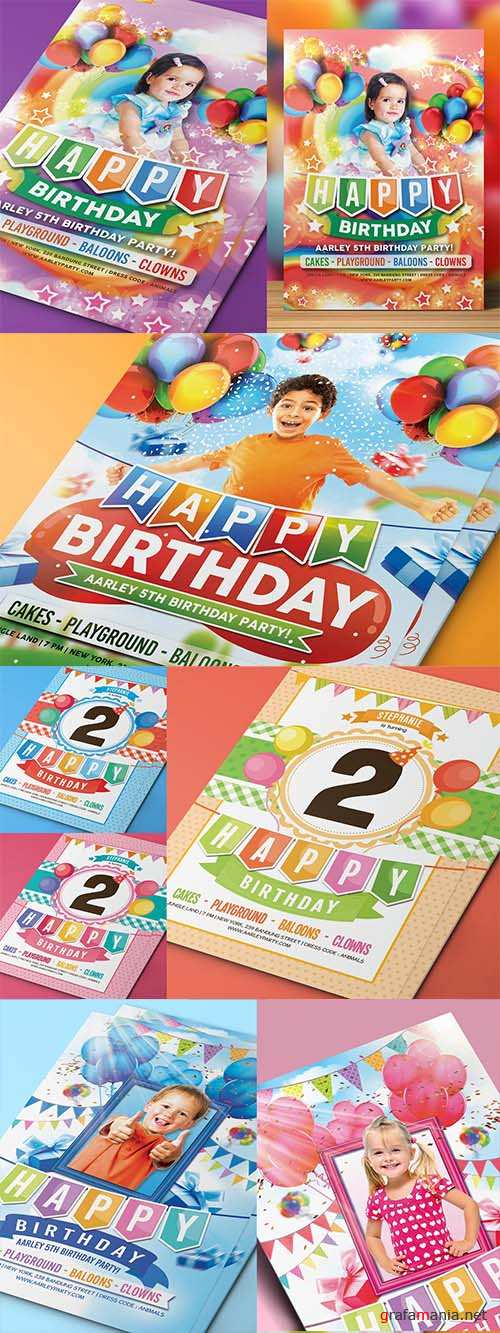 4 Kids Birthday Party Invitations