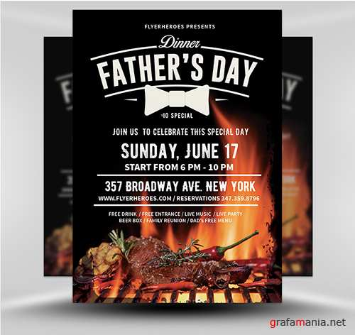 PSD Father's Day Flyer 3