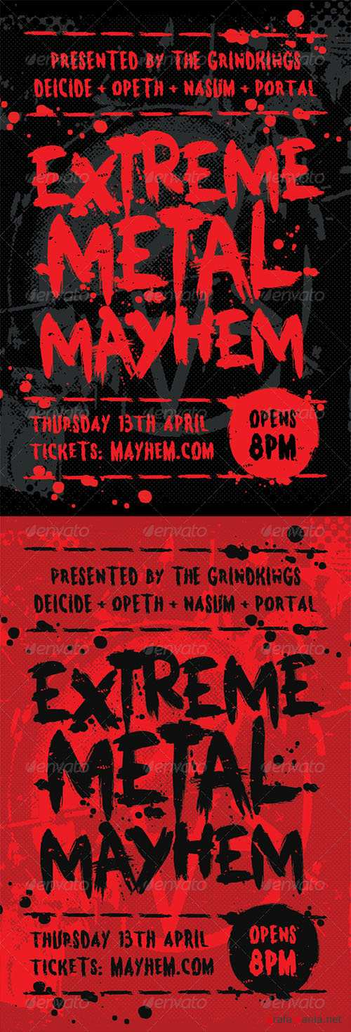 GR - Mayhem - Heavy Metal Flyer Template 7199816
