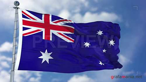 MA - Australia Flag Animation 73070