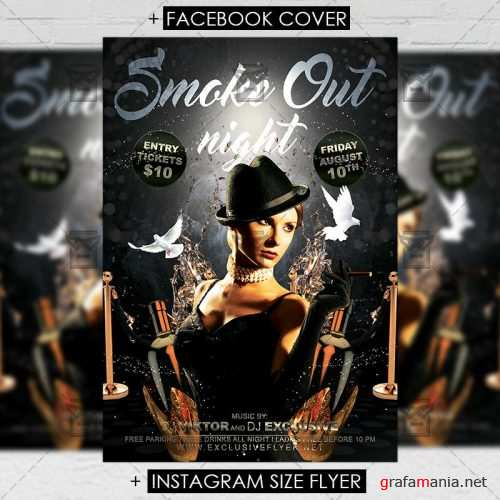 Premium A5 Flyer Template - Smoke Out Night