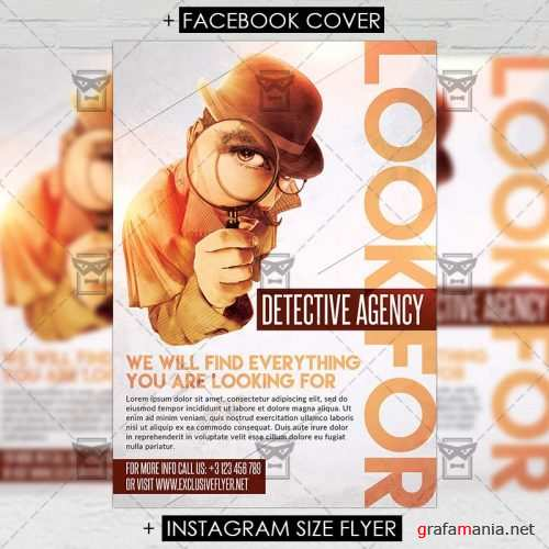 Premium A5 Flyer Template - Detective Agency