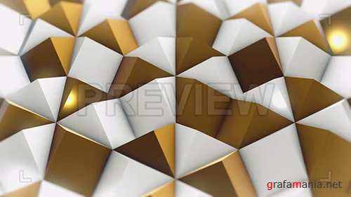 MA - White and Gold Rhombic Pattern Wall 3 78537