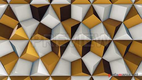 MA - White and Gold Rhombic Pattern Wall 1 78539