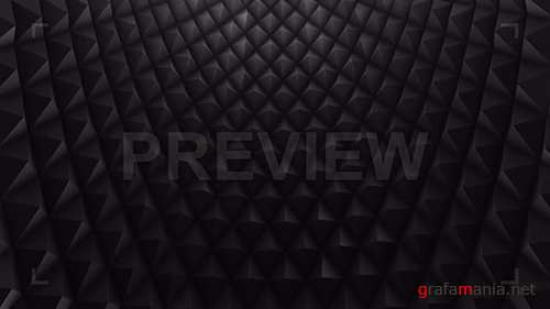 MA - Black Rhombic Wall Looping Background 77637