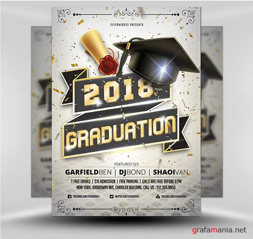 PSD Graduation Flyer Template 2