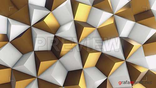 MA - White and Gold Rhombic Pattern Wall 2 78538