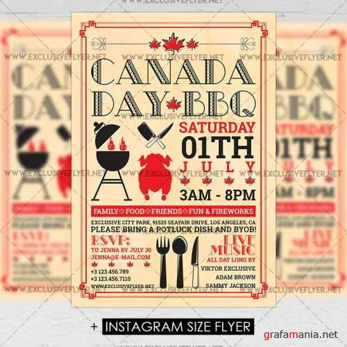 Canada Day BBQ – Premium A5 Flyer Template