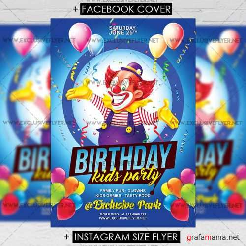 Kids Birthday – Premium A5 Flyer Template
