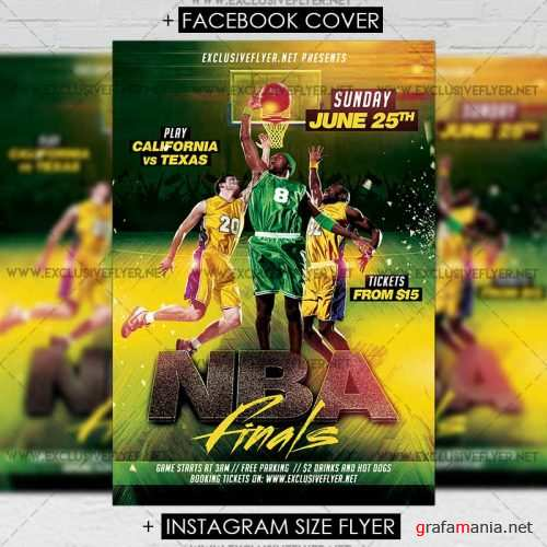 NBA Finals – Premium A5 Flyer Template
