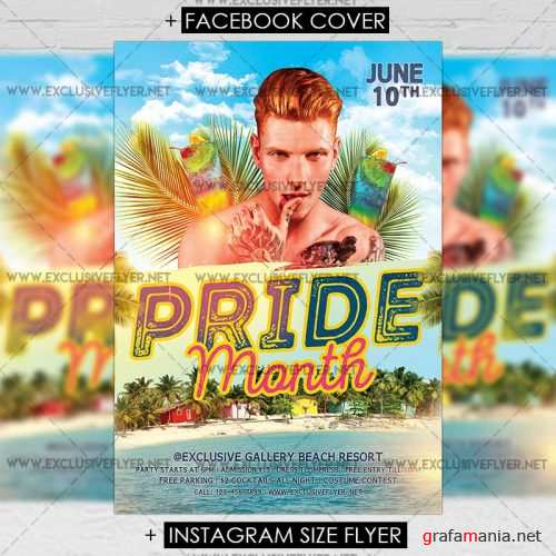 Premium A5 Flyer Template - Pride Month