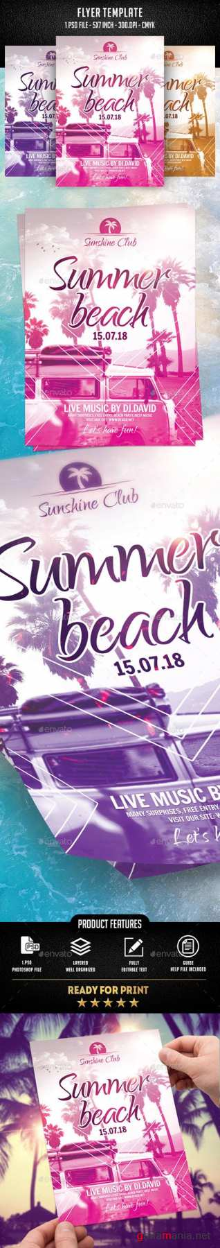 GR - Summer Beach Flyer Template 21964666