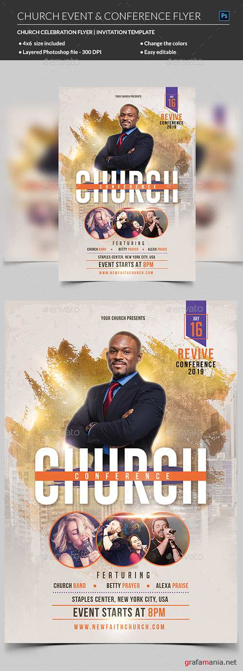 GR - Church Event or Conference Flyer Template 21965705