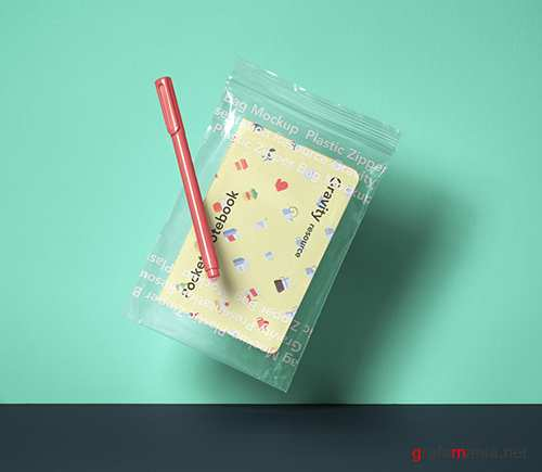 Notebook Zipper Bag Mockup