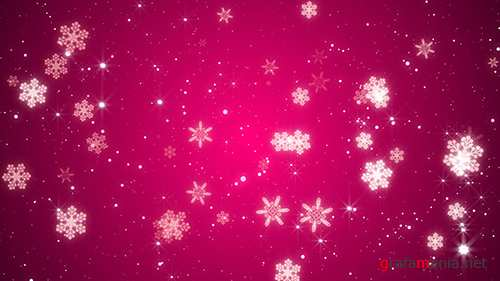 MA - Pink Snowflakes Background 82374