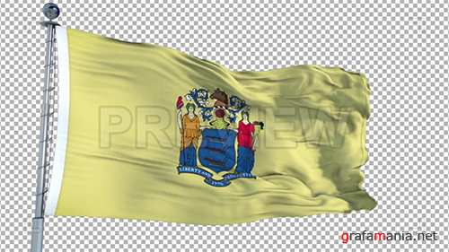 MA - New Jersey Flag Animation 73947