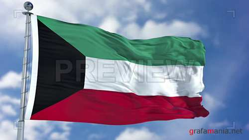 MA - Kuwait Flag Animation 73655