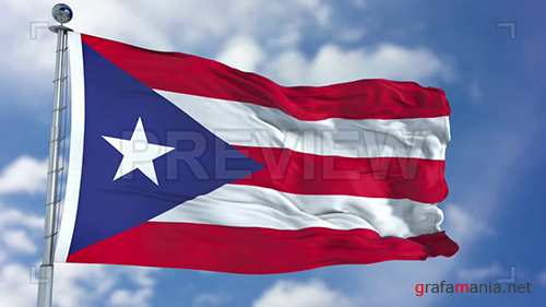MA - Puerto Rico Flag Animation 74189