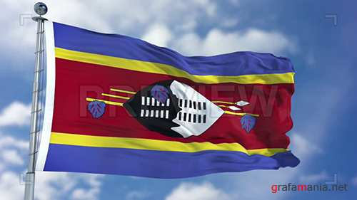 MA - Swaziland Flag Animation 74384