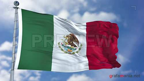 MA - Mexico Flag Animation 74097
