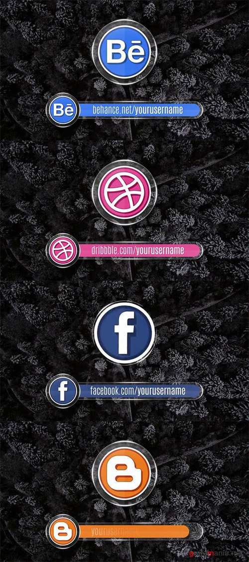 Pond5 - 17 Social Media Icon And Lowerthirds 083481100