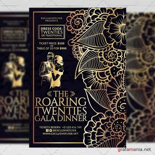 Club A5 Flyer Template - Roaring Twenties