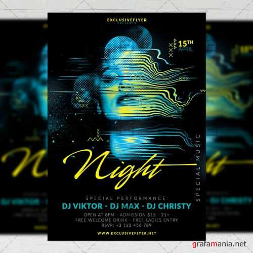 Club A5 Flyer Template - Special Music Nights