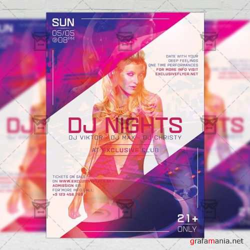 Club A5 Flyer Template - Dj Nights