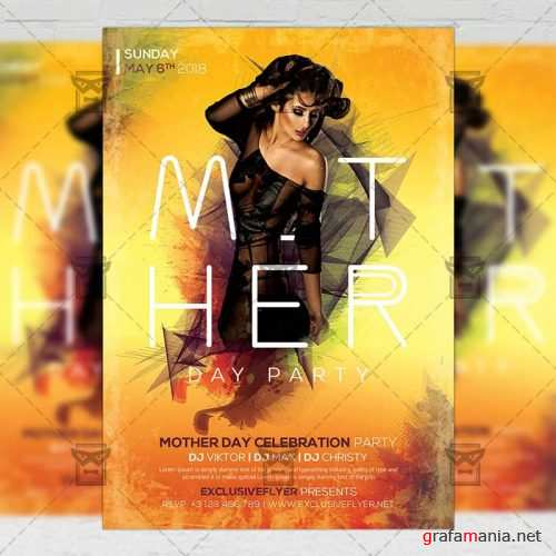 Seasonal A5 Flyer Template - Happy Mother Day