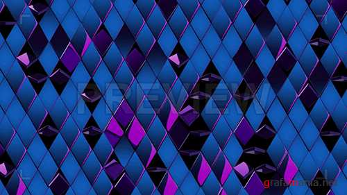 MA - Shiny, Metallic Blue-Purple Rhombus 86626