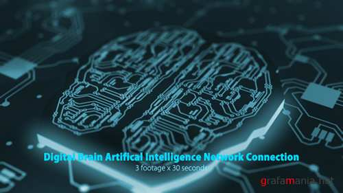 Digital Brain Artificial Intelligence Network Connection Pack 19176702