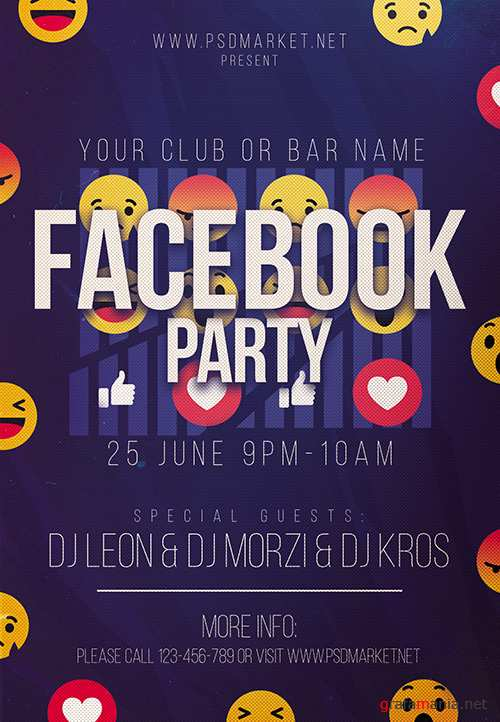 PSD Template - Facebook Party Night Flyer