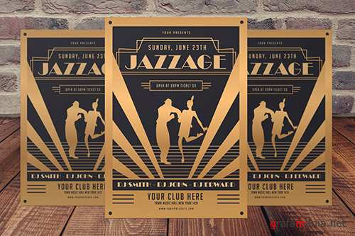 PSD Jazz Age Party Flyer