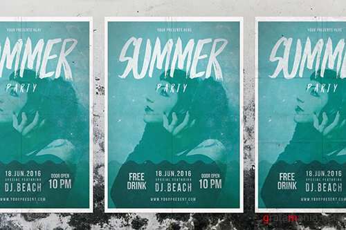 Summer PSD Party Flyer