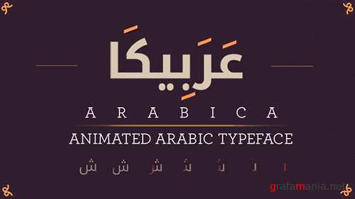 Arabica- Animated Arabic Typeface 10062361
