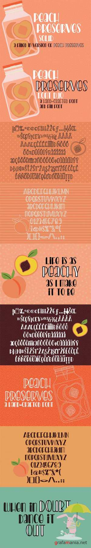 PN Peach Preserves Font Duo 3463672